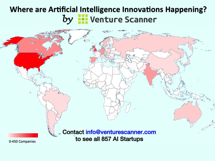 Artificial Intelligence Around The World Venture Scanner Insights