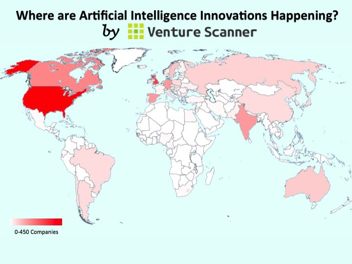 Artificial intelligence company list the following infographic is an updated heat map indicating where artificial intelligence startups exist across 62 countries currently the united states gumiabroncs Gallery