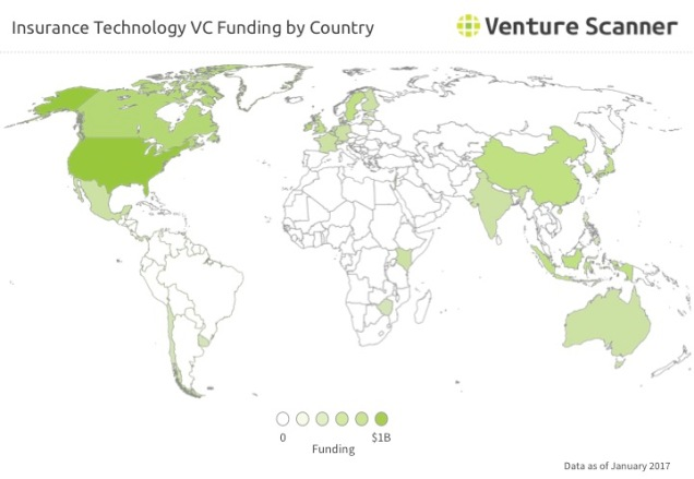 Blockchain Q2 2017 VC Funding by Country