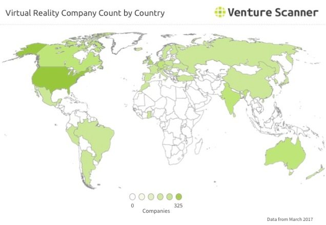VR Q2 2017 Company Count by Country